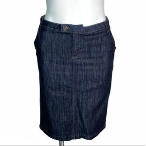 Zara Woman Dark Wash Denim Pencil Skirt 6